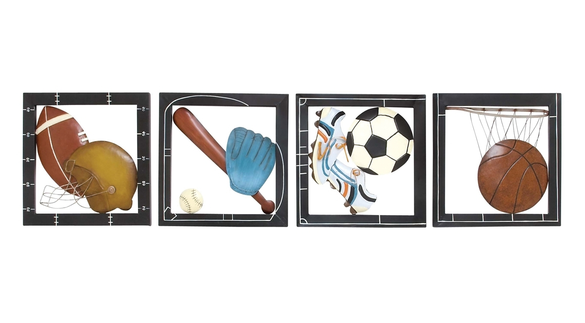 Sports Wall Art For Most Recent Fab Four Sports Wall Decor (View 12 of 15)