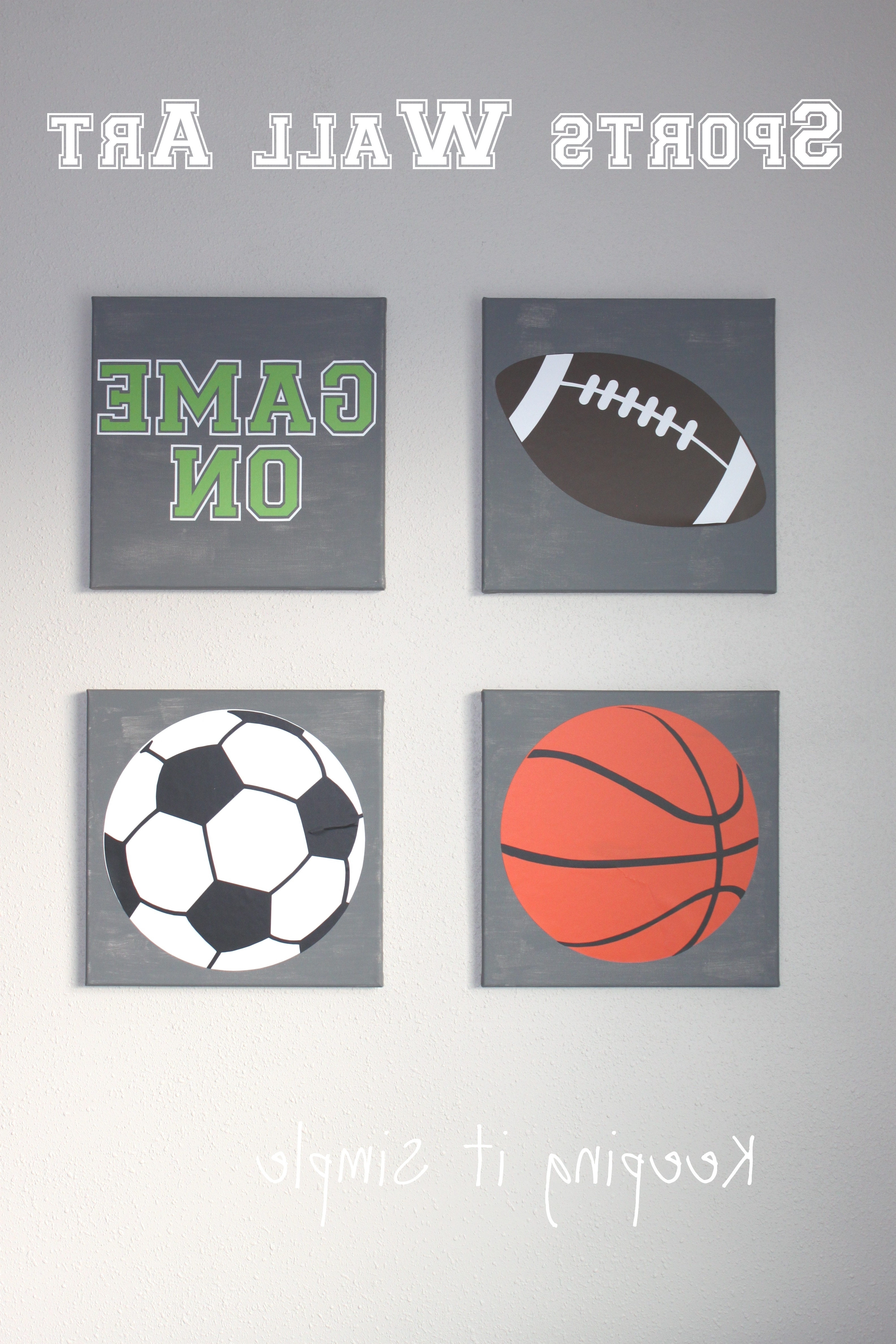 Sports Wall Art Throughout Widely Used Sports Wall Art With Svg Cut File • Keeping It Simple (View 15 of 15)
