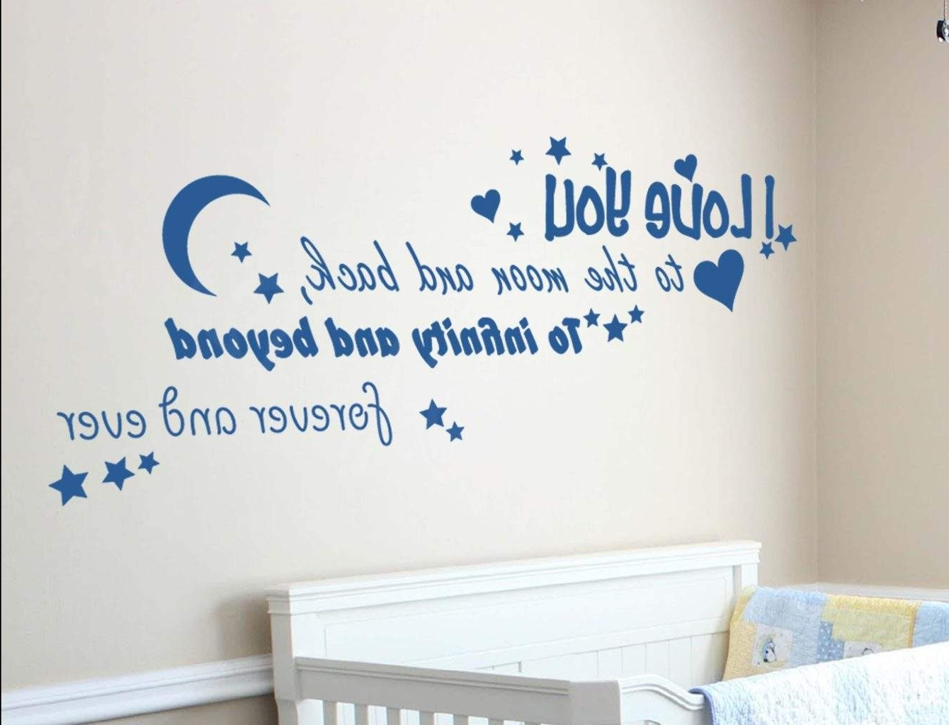 Spread Love With Love Based Wall Decals For Famous I Love You To The Moon And Back Wall Art (View 12 of 15)