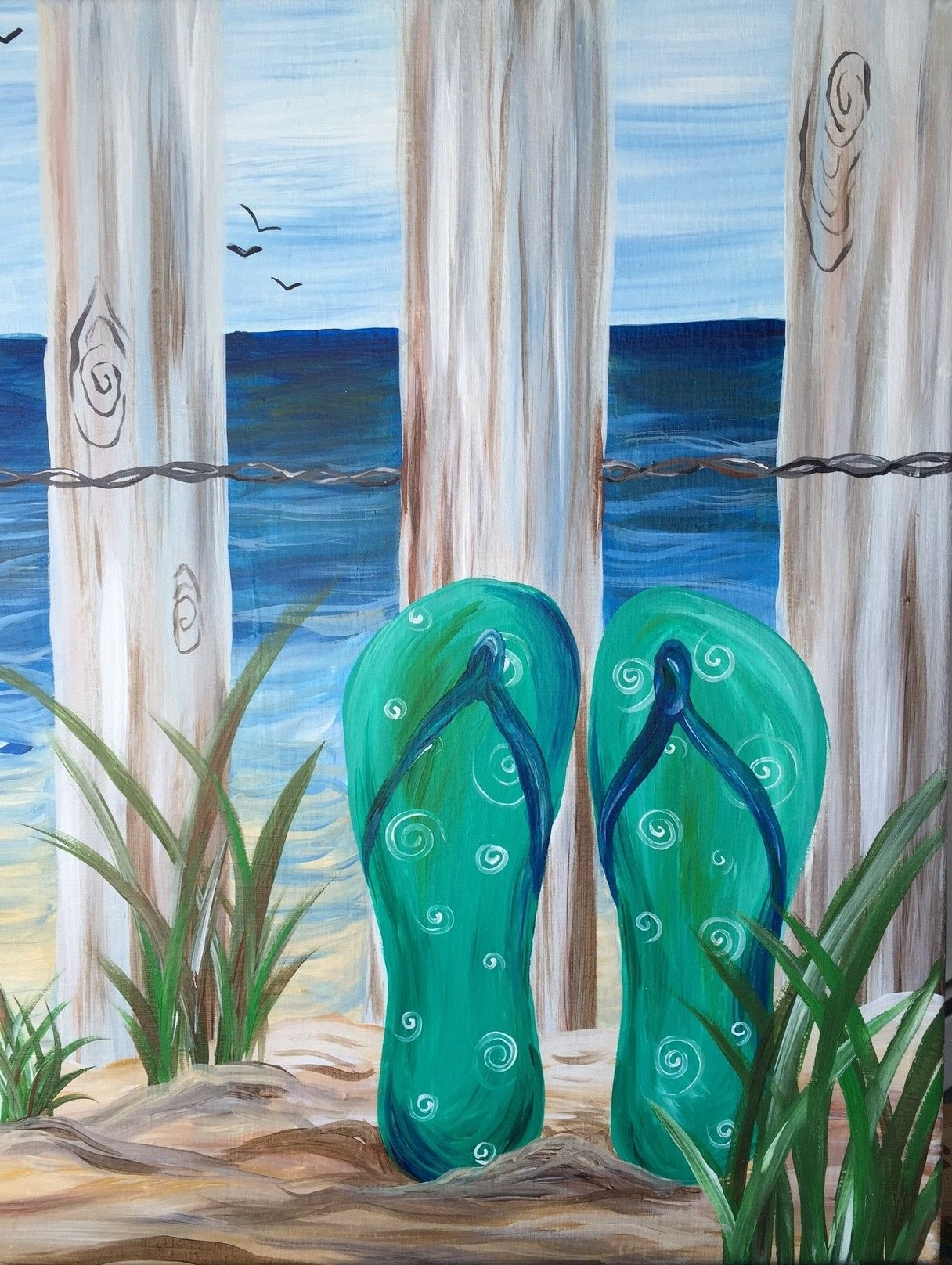Spring And Summer Throughout Flip Flop Wall Art (View 13 of 15)