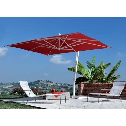 Square Cantilever Patio Umbrellas With Regard To Preferred Fim P Series 11.5' Square Cantilever Patio Umbrella 11.5' X  (View 10 of 15)