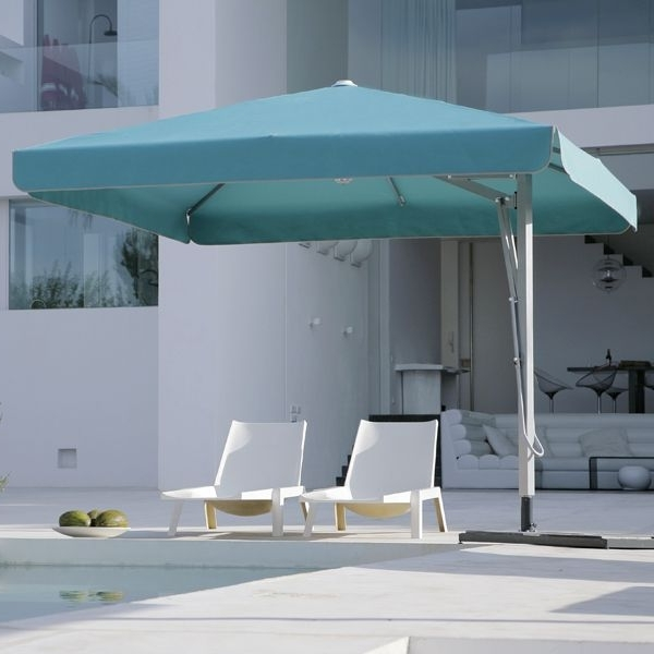 Square Patio Umbrellas Throughout Widely Used Caravita, Belvedere, Square, Offset, Umbrella – Homeinfatuation (View 6 of 15)