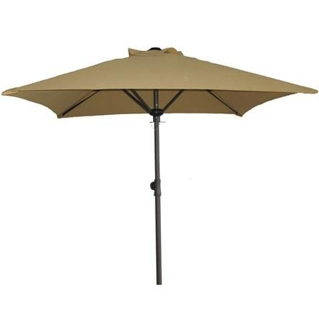 Square Patio Umbrellas With Popular 6 Foot Square Mainstays Patio Umbrella, Dune ($29) (View 12 of 15)