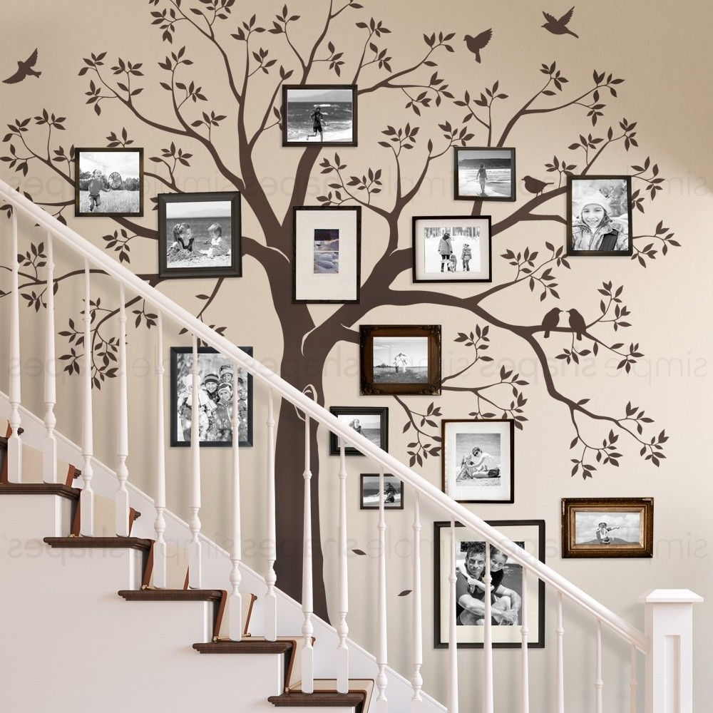 Staircase Family Tree Wall Decal … (View 9 of 15)