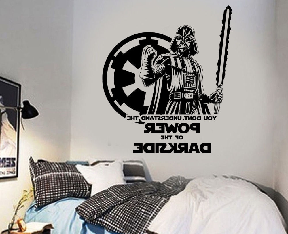 Star Wars Darth Vader Wall Sticker Wall Art Decal Poster Home Decor In Well Liked Darth Vader Wall Art (View 14 of 15)