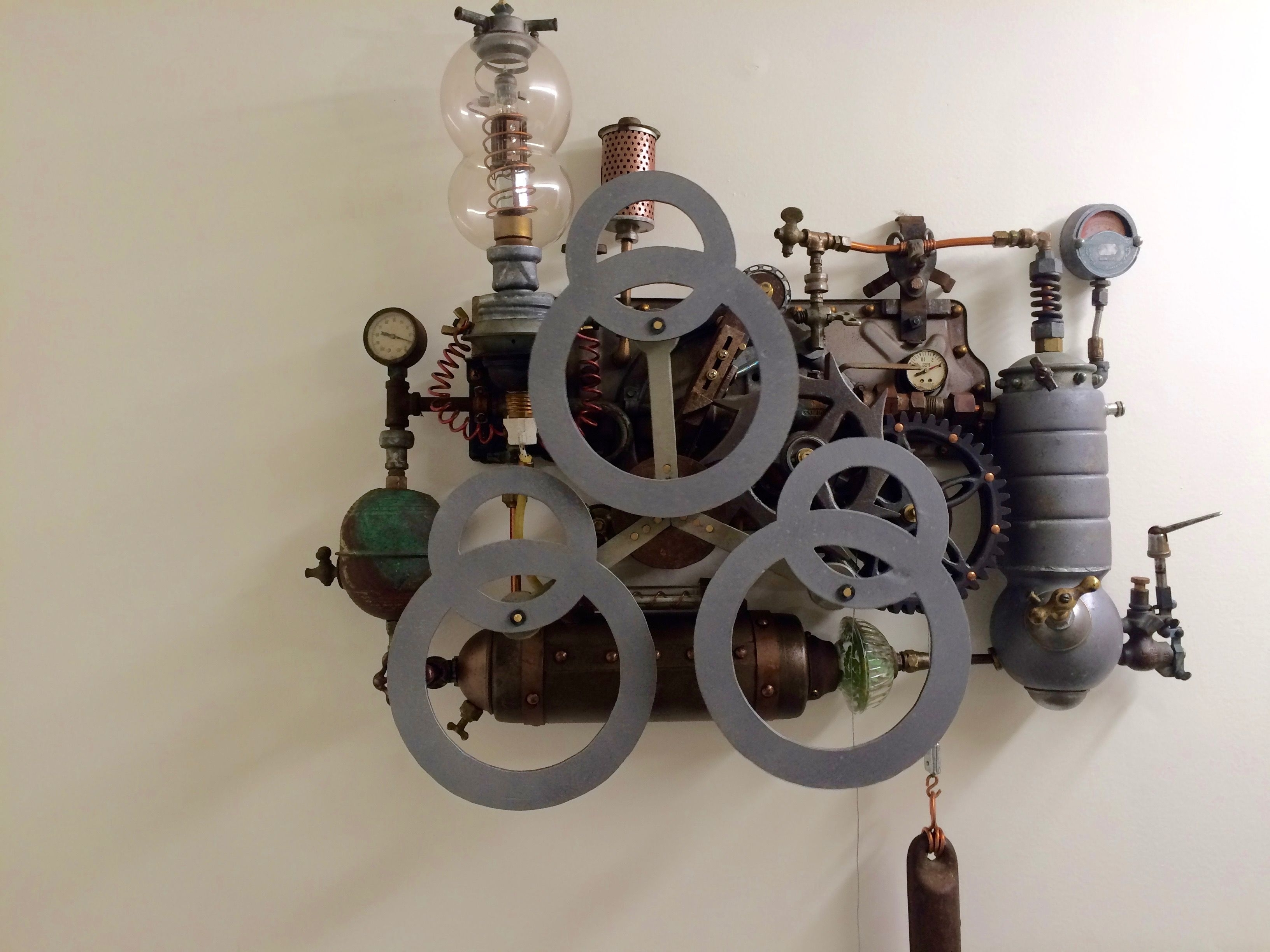 Steampunk Kinetic Sculpture (View 12 of 15)
