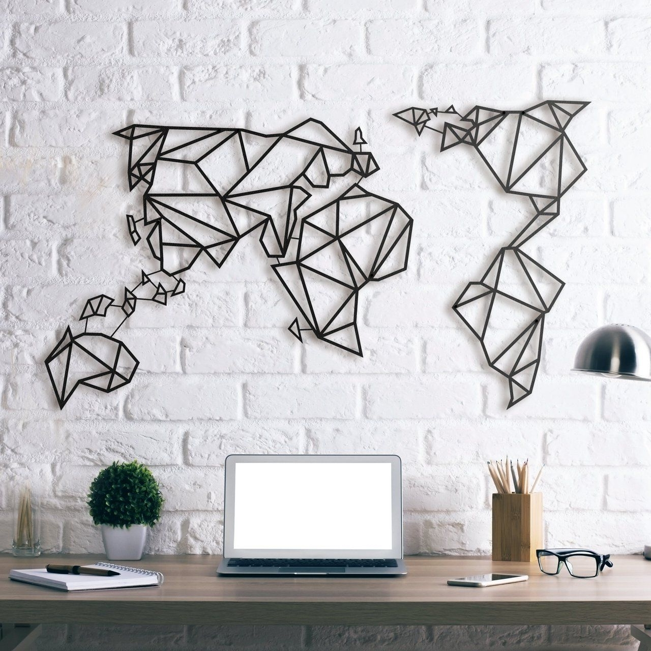 Steel With Most Recently Released World Map For Wall Art (View 7 of 15)