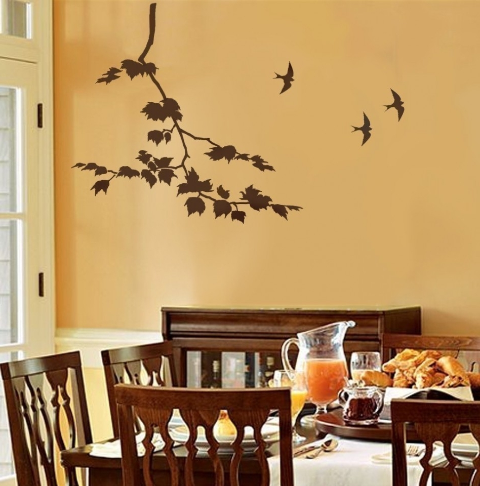 Stencil Wall Art Within Widely Used Decoration Ideas: Extraordinary Dining Room Decoration With Light (View 12 of 15)