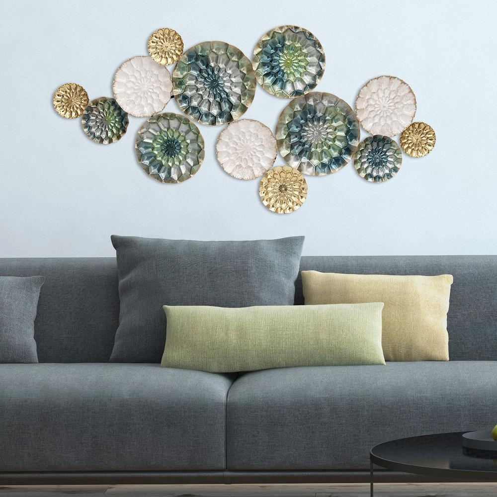 Stratton Home Decor Santorini Metal Wall Decor S07661 – The Home Depot Within Most Up To Date Cheap Metal Wall Art (View 7 of 15)