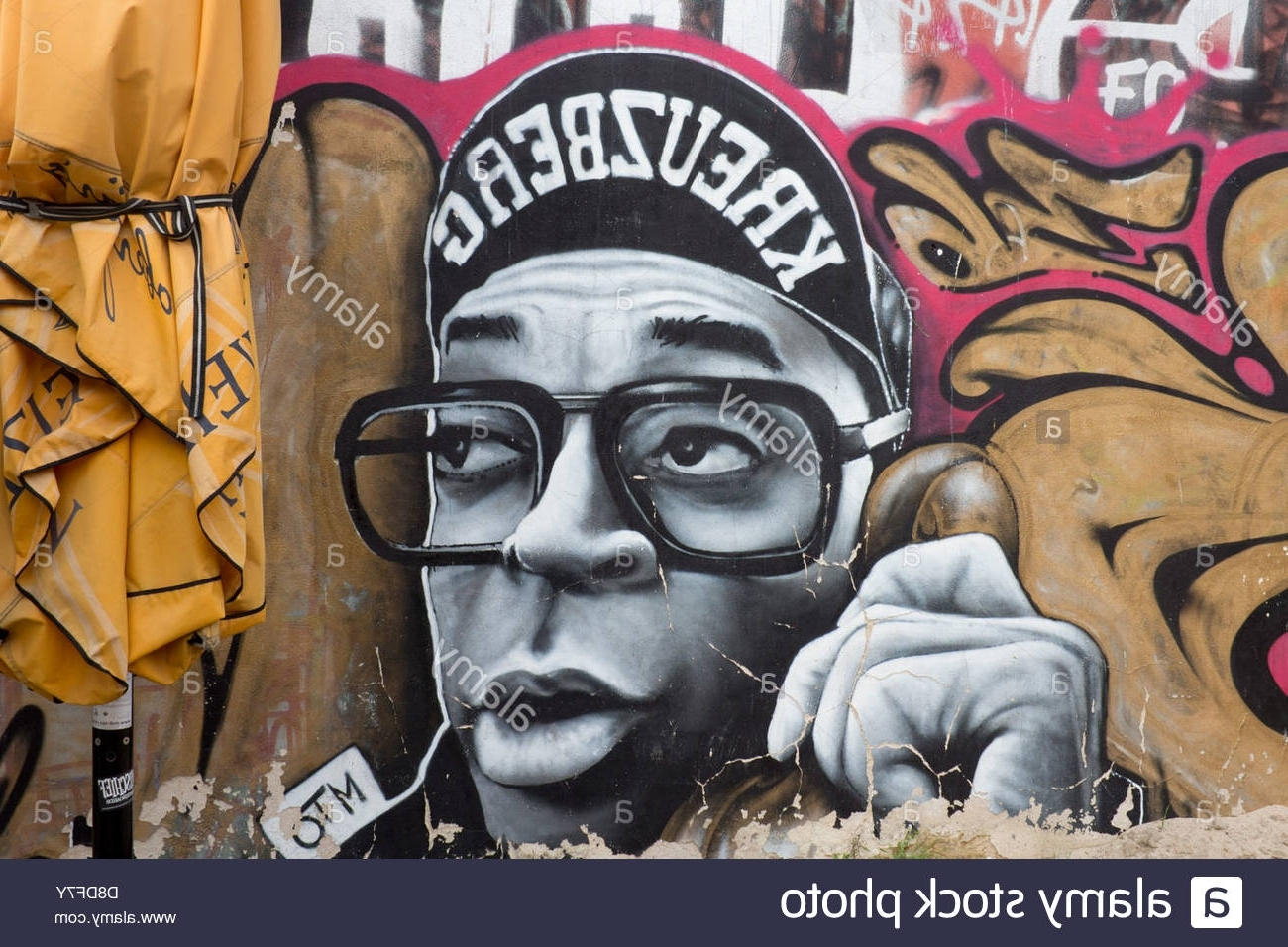 Street Art Graffiti On Wall In Kreuzberg Hip Hop Style Male In Popular Hip Hop Wall Art (View 14 of 15)