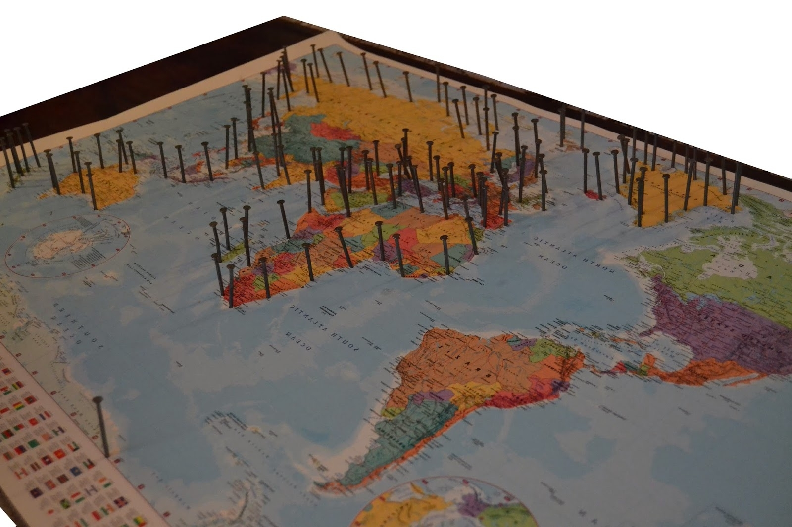 String Map Wall Art With Regard To Popular The Crafty Novice: Diy: String Art World Map (View 14 of 15)