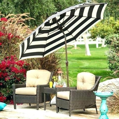 Striped Outdoor Umbrella Striped Patio Umbrella Great Black And For Newest Striped Patio Umbrellas (View 13 of 15)