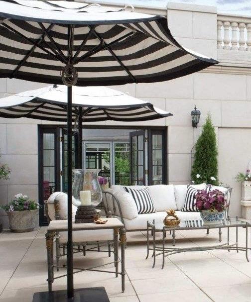Striped Patio Umbrellas For Famous Best Outdoor Patio Umbrellas: A Twist On The Expected! (View 7 of 15)