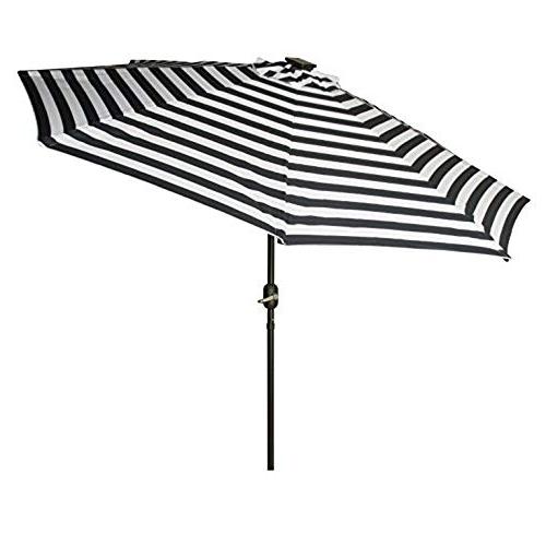 Striped Patio Umbrellas In Latest Striped Patio Umbrellas: Amazon (View 8 of 15)