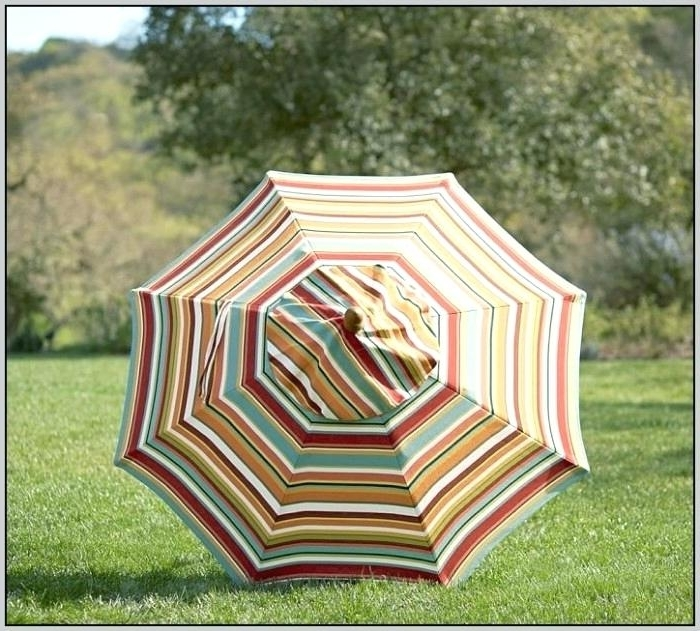Striped Patio Umbrellas Regarding Trendy Great Orange Striped Patio Umbrella Js On Most Creative Inspiration (View 11 of 15)