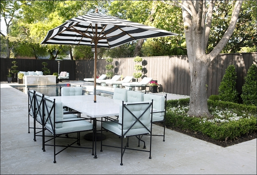 Striped Sunbrella Patio Umbrellas Regarding Recent Striped Patio Umbrella – Darcylea Design (View 3 of 15)