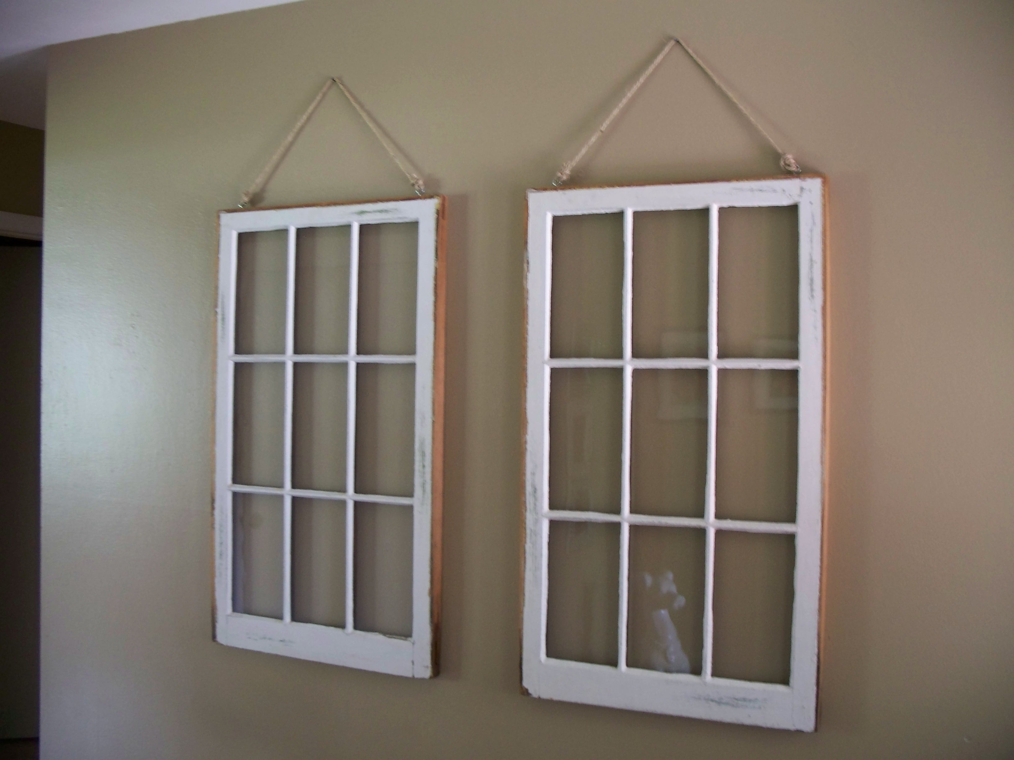 Stunning Interior With Hanging Diy Window Frame Also, Window Frame With Regard To Current Window Frame Wall Art (View 4 of 15)