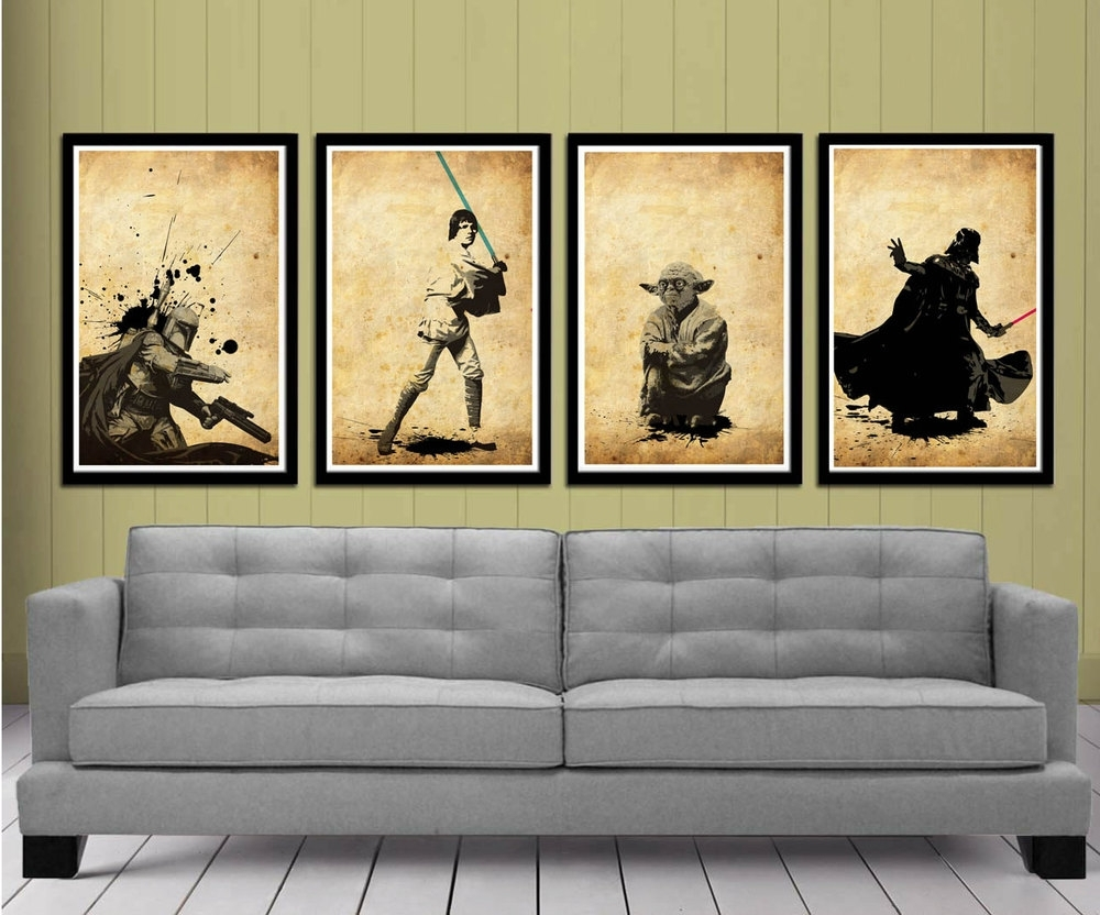 Stunning Star Wars Fine Art Prints — Geektyrant Pertaining To Most Popular Star Wars Wall Art (View 10 of 15)