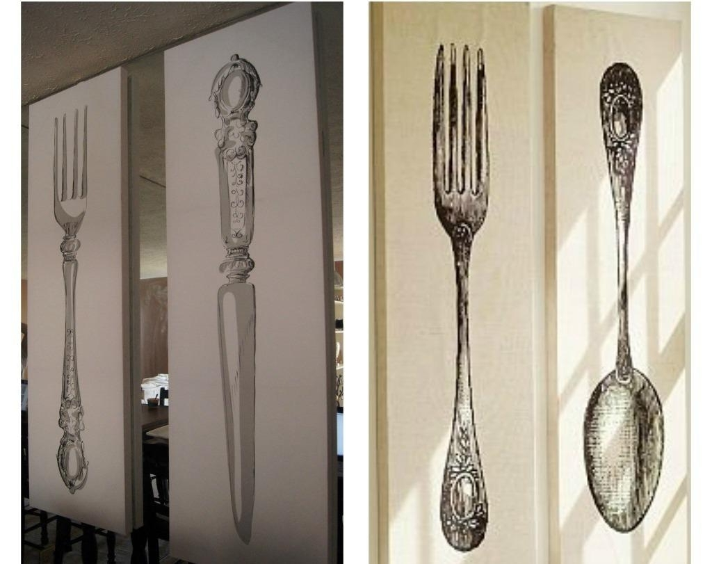 Style Of Spoon And Fo Ideal Fork And Spoon Wall Decor – Wall With Widely Used Fork And Spoon Wall Art (View 3 of 15)