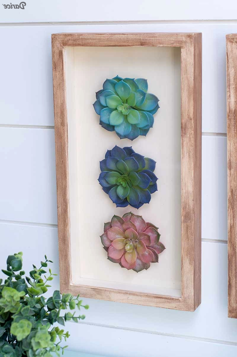 Succulent Wall Art In Best And Newest Succulent Wall Art (View 12 of 15)