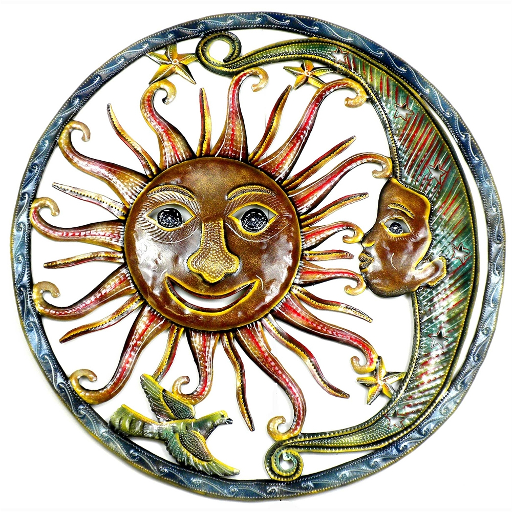 Sun And Moon Hang Out Metal Wall Art Inside Trendy Sun And Moon Metal Wall Art (View 10 of 15)