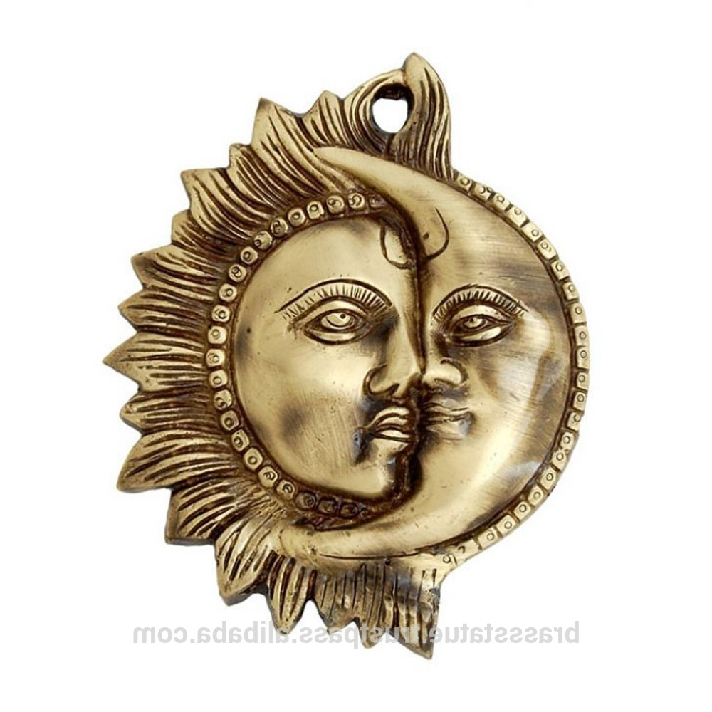 Sun And Moon Metal Wall Art Regarding Newest Brass Wall Hanging  Sun And Moon Metal Wall Hanging Wall Decor – Buy (View 12 of 15)