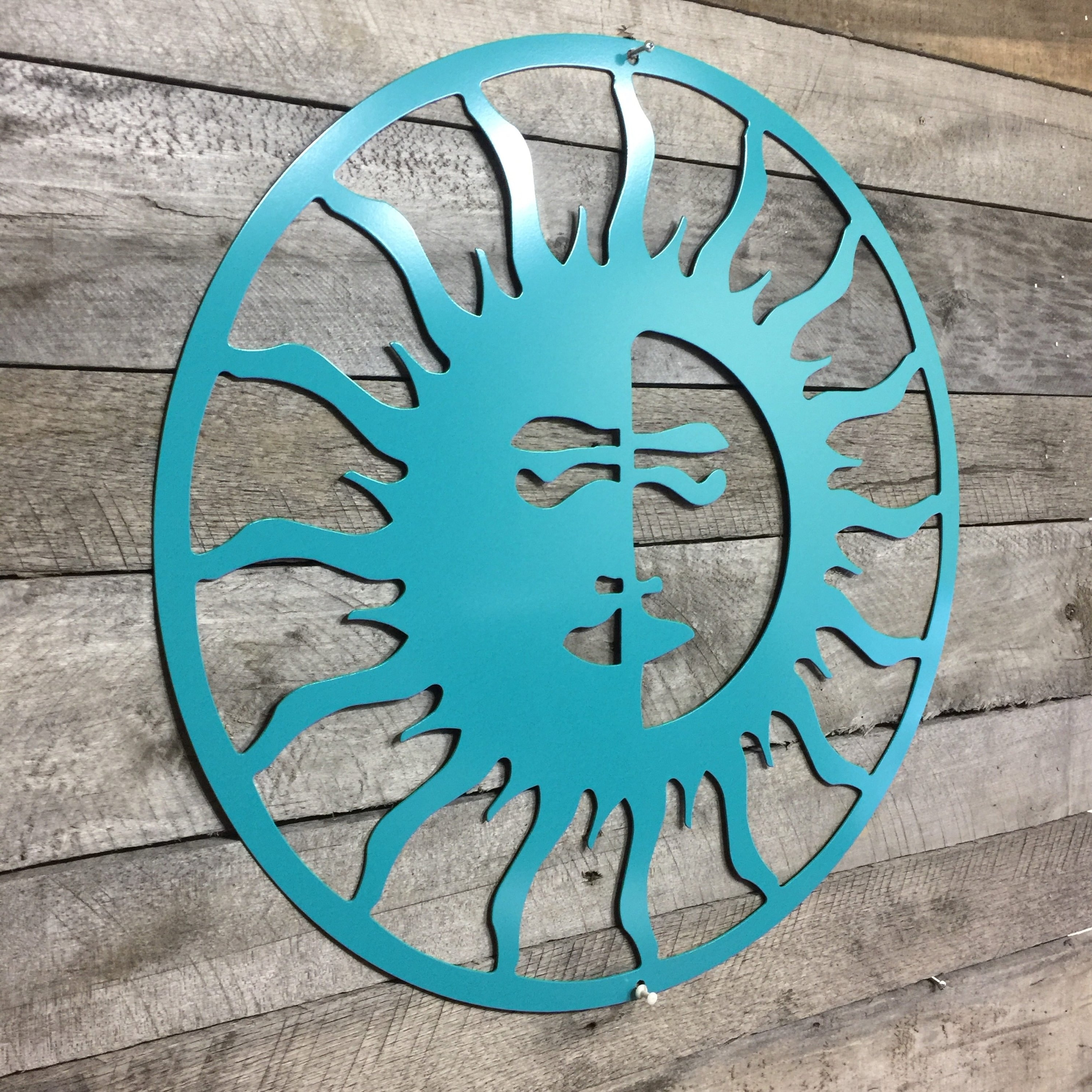 Sun And Moon Metal Wall Art Within Most Recently Released Sun/moon, Outdoor Art, Pool Art, Custom Metal Art, Metal Wall Art (View 2 of 15)