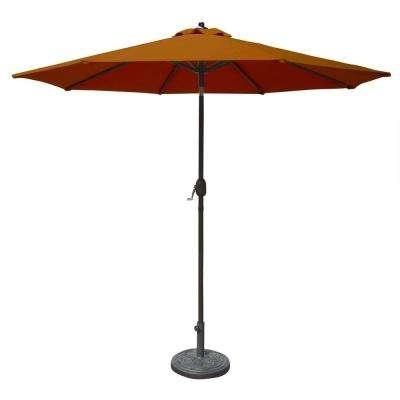 Sunbrella Fabric – Market Umbrellas – Patio Umbrellas – The Home Depot Pertaining To 2017 Patio Umbrellas With Sunbrella Fabric (View 11 of 15)