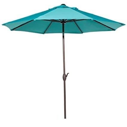 Sunbrella Outdoor Patio Umbrellas Inside Latest Amazon : Abba Patio Sunbrella Patio Umbrella 9 Feet Outdoor (View 11 of 15)