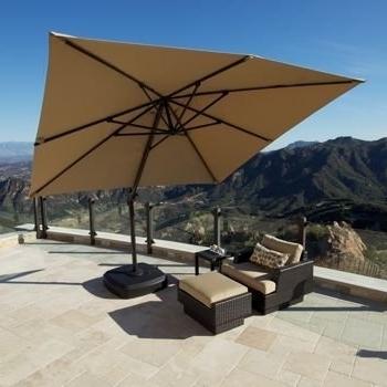 Sunbrella Outdoor Patio Umbrellas With Regard To Fashionable Amazon : Portofino Signature Resort Umbrella 10' X 10' Sunbrella (View 14 of 15)