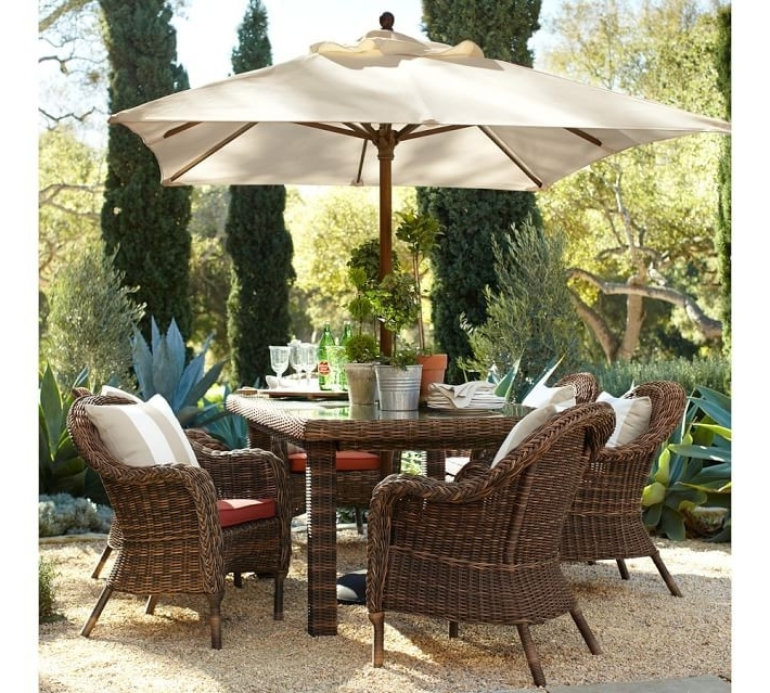Sunbrella Patio Table Umbrellas Intended For Most Popular Rectangular Sunbrella Patio Umbrellas Awesome Interior Patio Table (View 10 of 15)