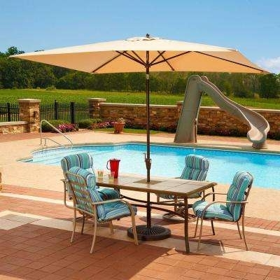 Sunbrella Patio Table Umbrellas Within Famous Sunbrella – Patio Umbrellas – Patio Furniture – The Home Depot (View 12 of 15)