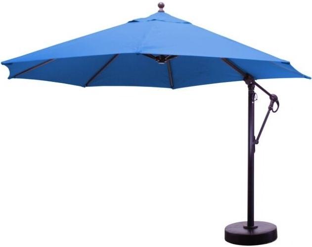Sunbrella Patio Umbrella With Lights Intended For Most Popular 11' Sunbrella B Aluminum Cantilever Market Umbrellas (View 10 of 15)