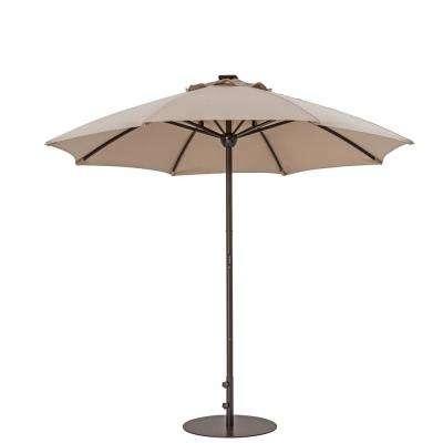 Sunbrella Patio Umbrella With Lights Regarding Widely Used Sunbrella Fabric – Beige – Market Umbrellas – Patio Umbrellas – The (View 12 of 15)