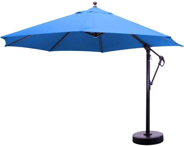 Sunbrella Patio Umbrellas Aluminum Cantilever Patio Umbrella Intended For Most Up To Date Striped Sunbrella Patio Umbrellas (View 6 of 15)