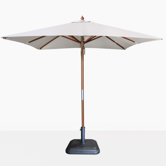 Sunbrella Teak Umbrellas For 2017 Dixon Sunbrella Square Patio Umbrella (View 5 of 15)