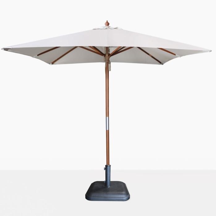 Sunbrella Teak Umbrellas For 2017 Dixon Sunbrella Square Patio Umbrella (View 5 of 15)