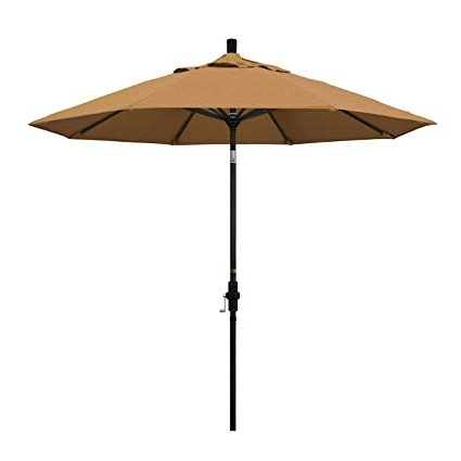 Sunbrella Teak Umbrellas For Fashionable Amazon : California Umbrella 9' Round Aluminum Market Umbrella (View 6 of 15)