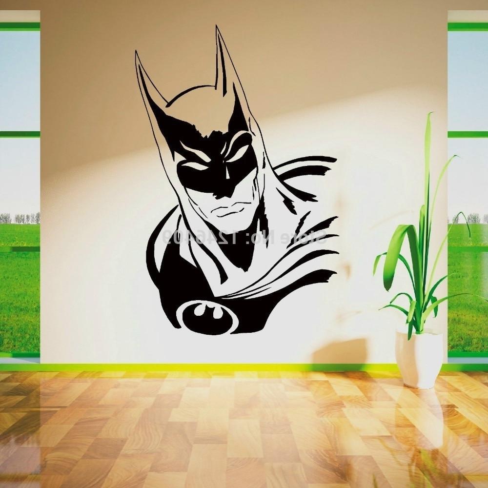 Superhero Wall Art For Well Known Cool Batman Superhero Vinyl Removable Wall Art Sticker Poster (View 8 of 15)