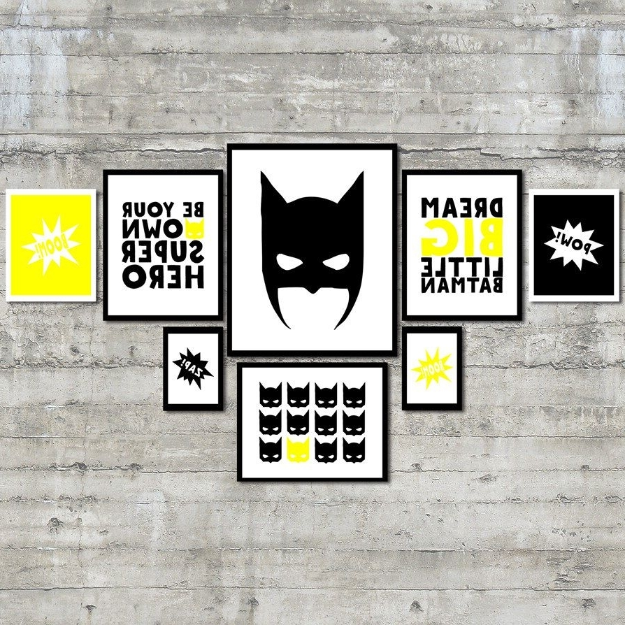 Superhero Wall Art Prints  Be Your Own Superhero Gallery Wall Art Pertaining To 2017 Superhero Wall Art (View 9 of 15)