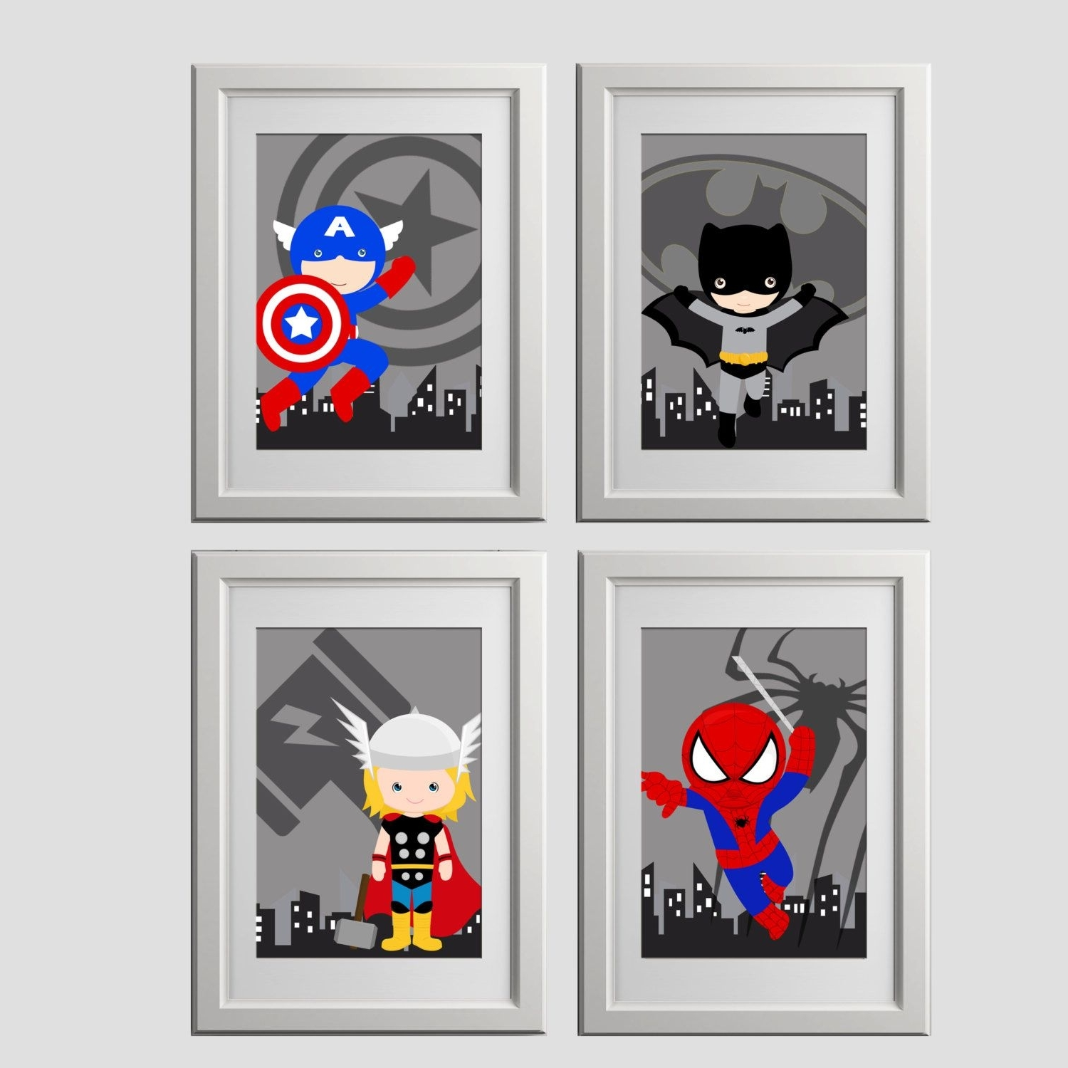 Superhero Wall Art With Regard To Most Up To Date Pick 4, Superhero Wall Art Prints, High Quality Prints, Shipped To (View 11 of 15)