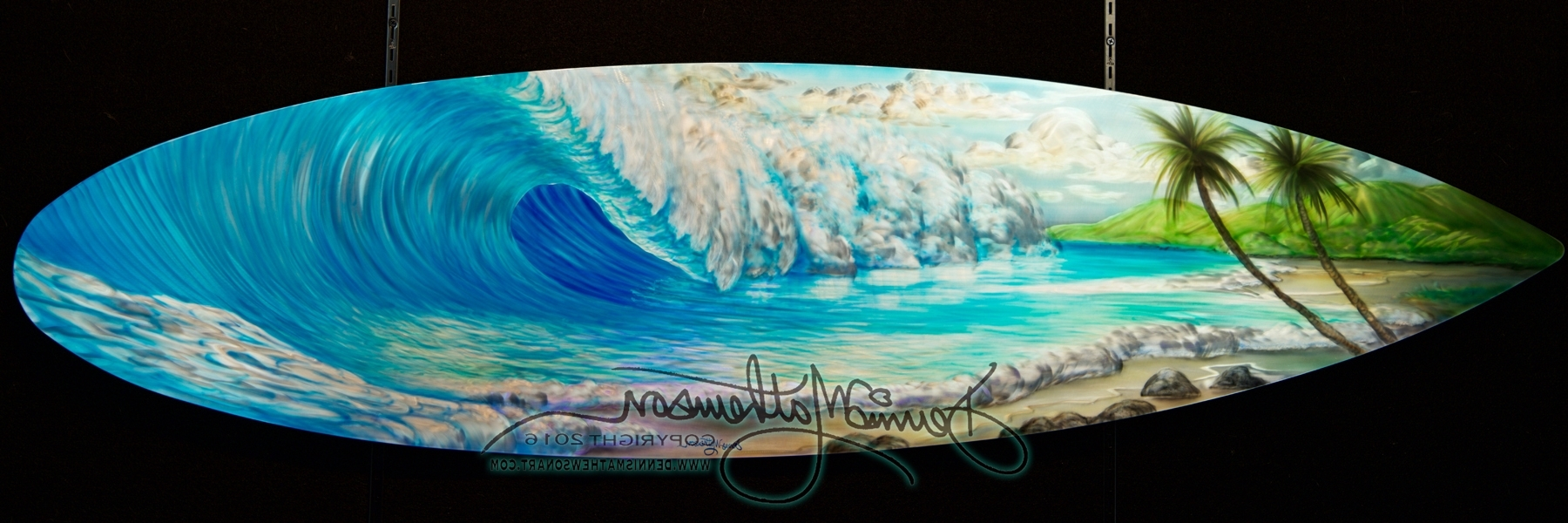 Surfboard Wall Art Inside Best And Newest Surfboard Wave #16 – Dennis Mathewson Art (View 9 of 15)