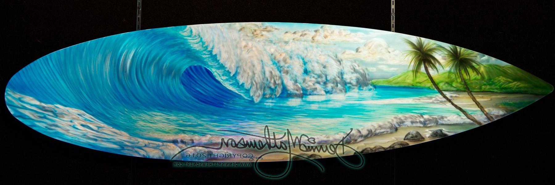 Surfboard Wall Art Inside Best And Newest Surfboard Wave #16 – Dennis Mathewson Art (View 11 of 15)