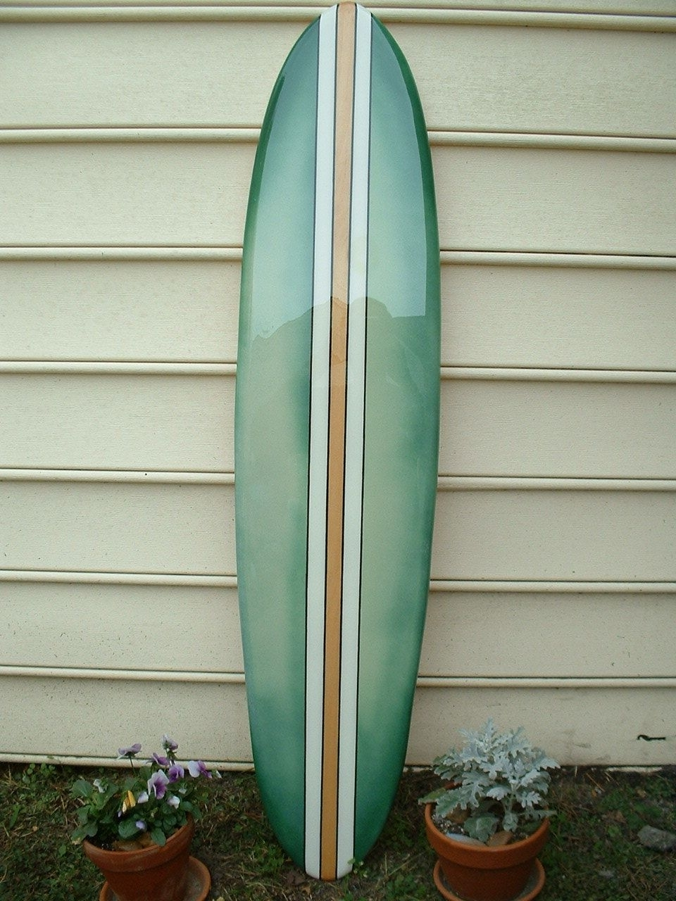Surfboard Wall Art Intended For 2018 Surfboard Wall Art,beach Decor, Faded Green Hawaiian Surfboard Wall (View 10 of 15)