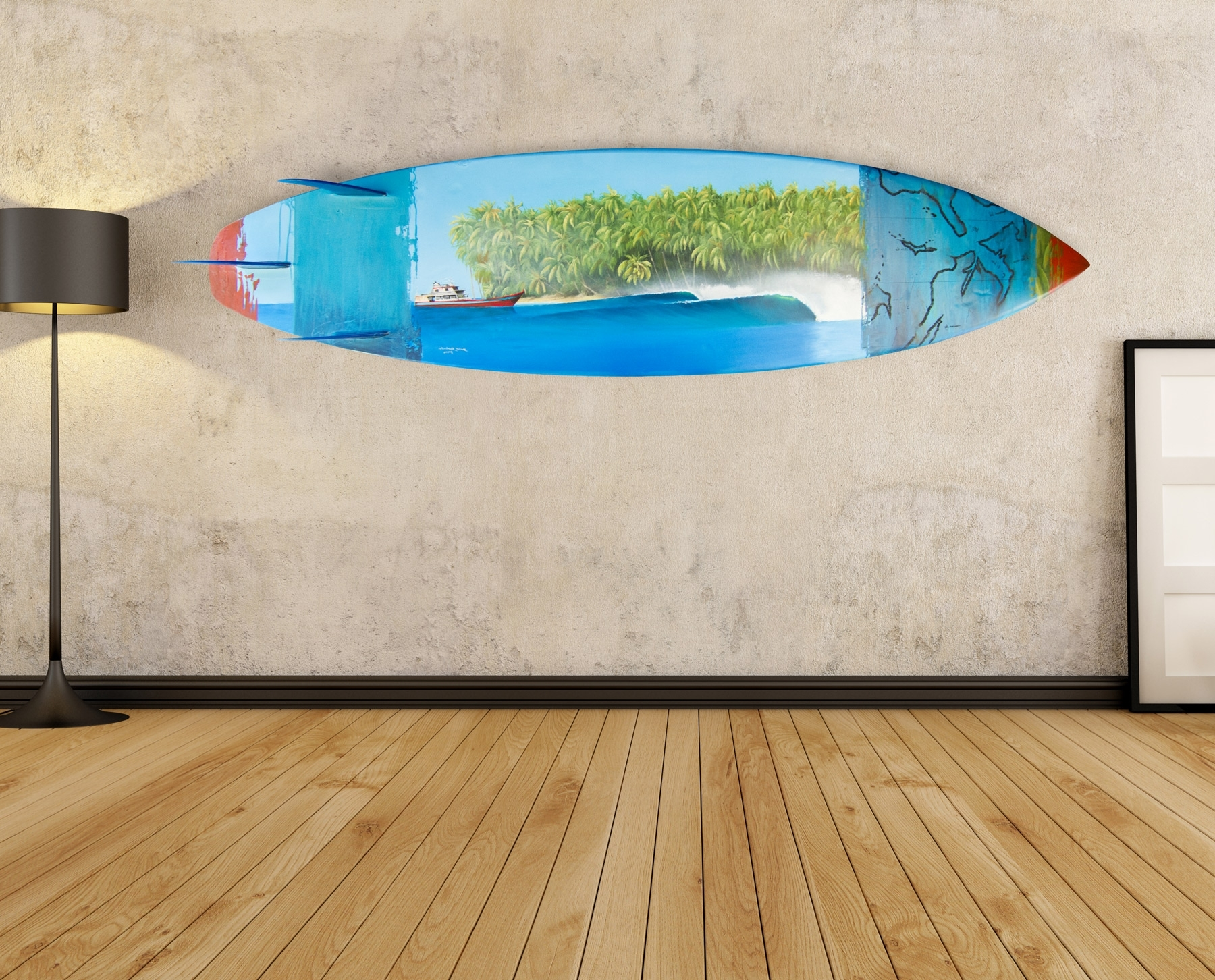 Surfboard Wall Art pertaining to Most Recently Released Surfboard Wal Vintage Surfboard Wall Art - Wall Decoration And Wall