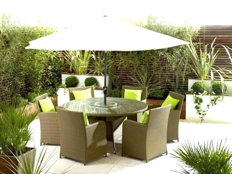 Table With Umbrellas Patio Sets With Umbrella Outdoor Patio Dining Throughout 2018 Patio Dining Umbrellas (View 5 of 15)