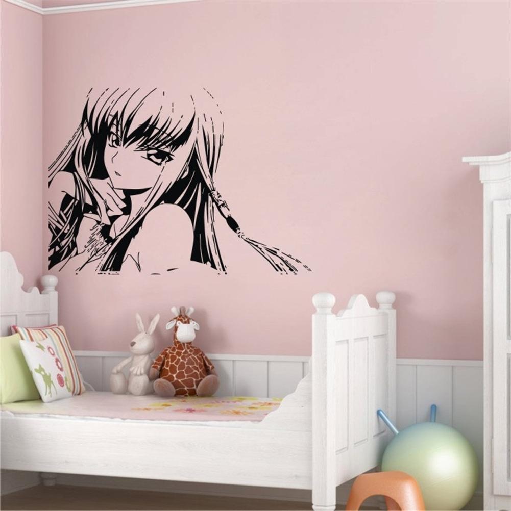 Teen Wall Art Regarding Well Known Hot Sale 2015 Japanese Cartoon Girls Teen Wall Decor Art Vinyl (View 4 of 15)