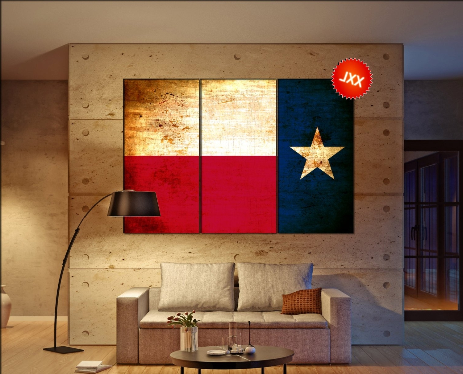 Texas Flag Canvas Wall Art Texas Flag Wall Decoration Texas Flag With Most Recently Released Texas Wall Art (View 2 of 15)