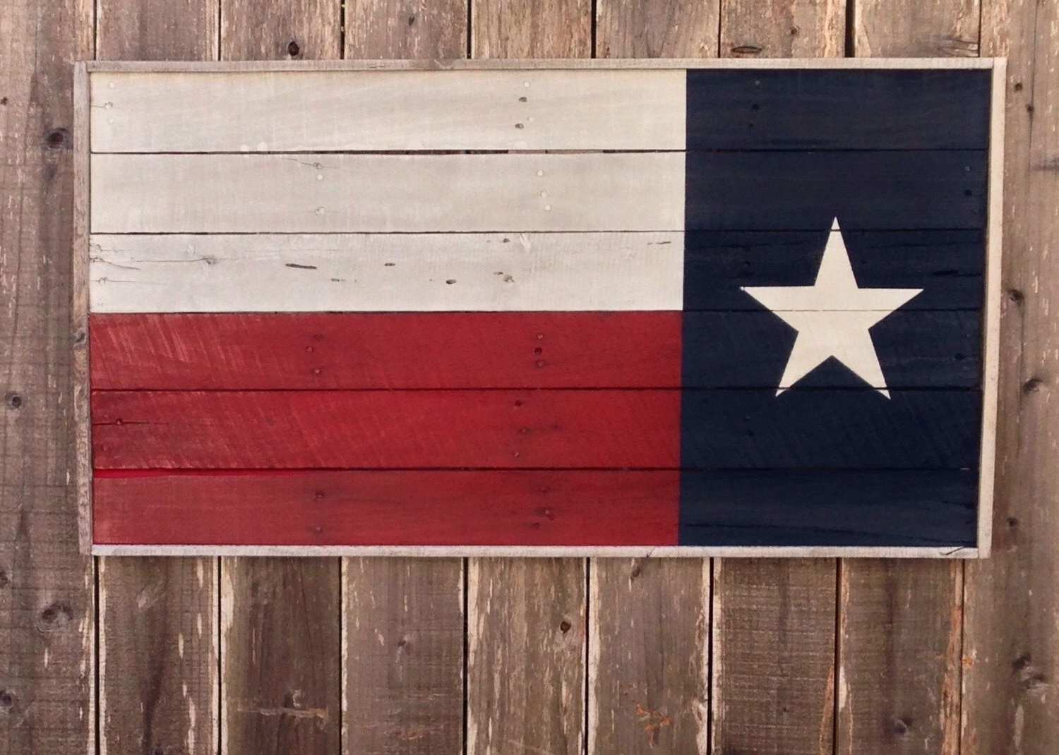 Texas Wall Art Intended For Latest Bold Wood Texas State Flag, Texas Wall Hanging, Texas Wall Art, Bold (View 13 of 15)