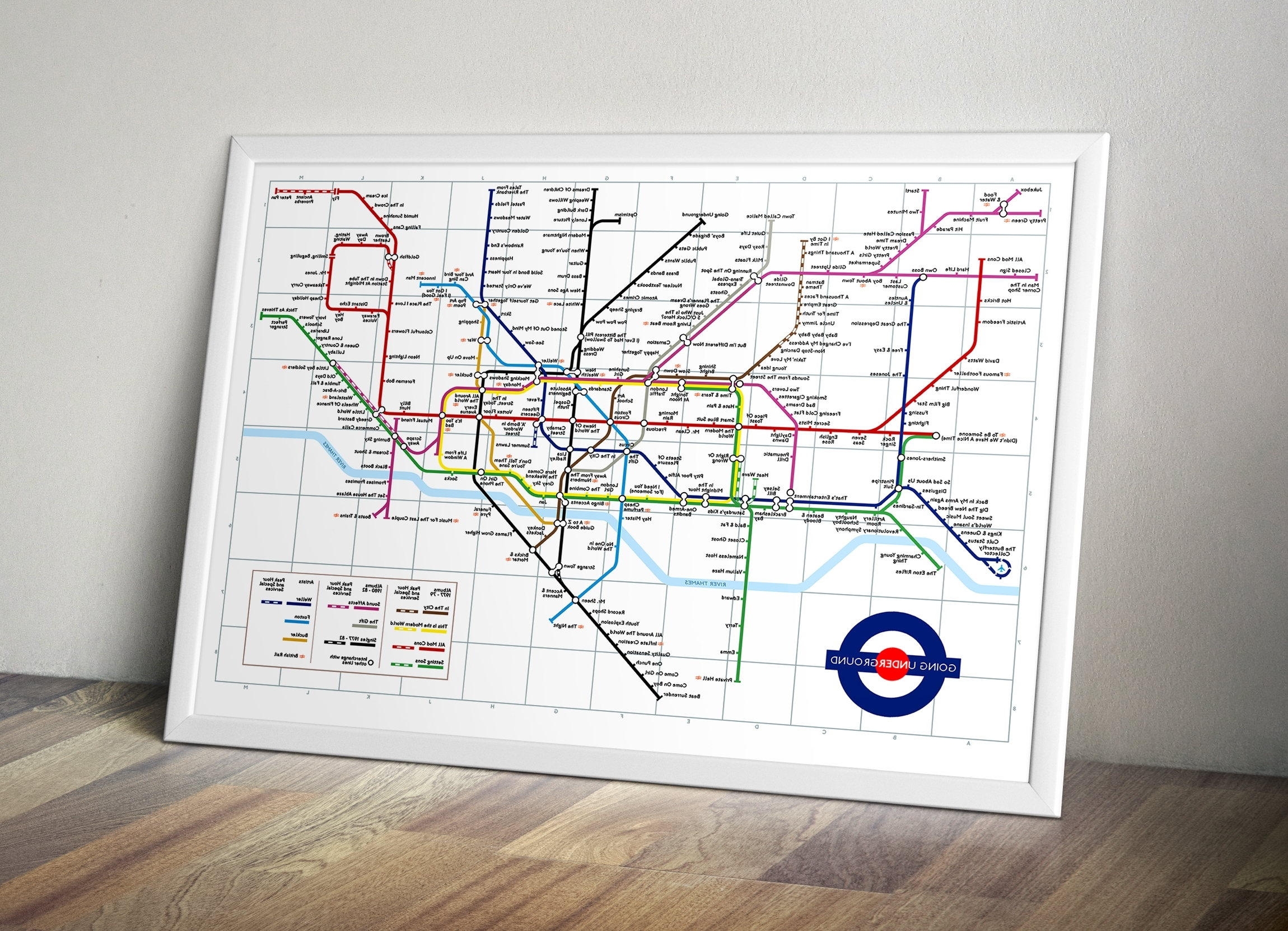 The Jam London Tube Map Intended For Most Recent Tube Map Wall Art (View 9 of 15)